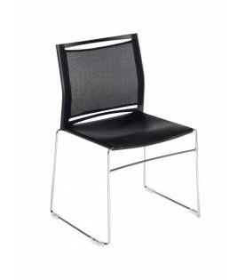 Chaise plastique noir empilable Réf. JILL 3683 Sitek