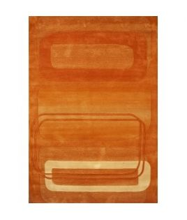 Tapis rectangle orangé