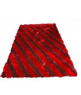 Tapis rayure rouge