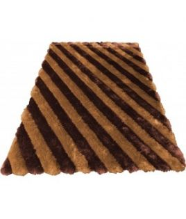 Tapis rayure brun