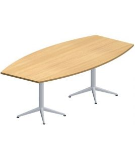 Table de réunion tonneau 200 x 100 cm