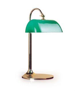 Lampe à verre vert