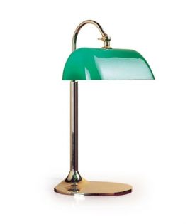 lampe de bureau en verre vert. Black Bedroom Furniture Sets. Home Design Ideas