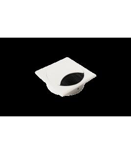XERUS Option 2 passe-câbles en zamak laqué epoxy blanc