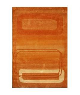 Tapis rectangle orangé