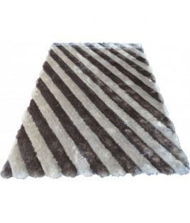 Tapis rayure gris