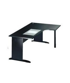 Classic bureau compact avec retour pied métal
