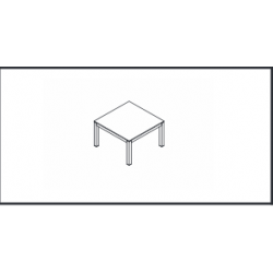"""Table plateau Mélaminé """"IMPULS"""" - Réf : IM57 MDD"""
