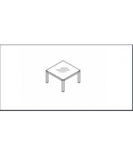 """Table de réunion en Verre """"CRYSTAL"""" - Réf : AE11S MDD"""