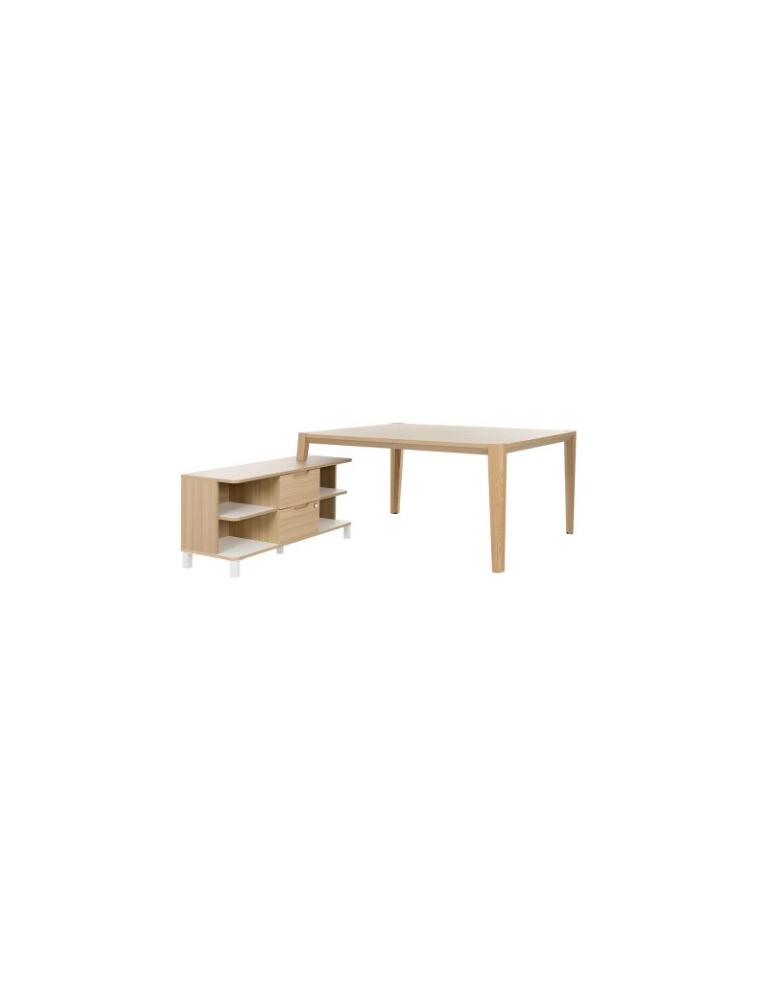 BUREAU ABSOLU (GAUTIER) – RÉF. TABLE DE TRAVAIL L.140 AVEC RETOUR 1S17560 – GAUTIER