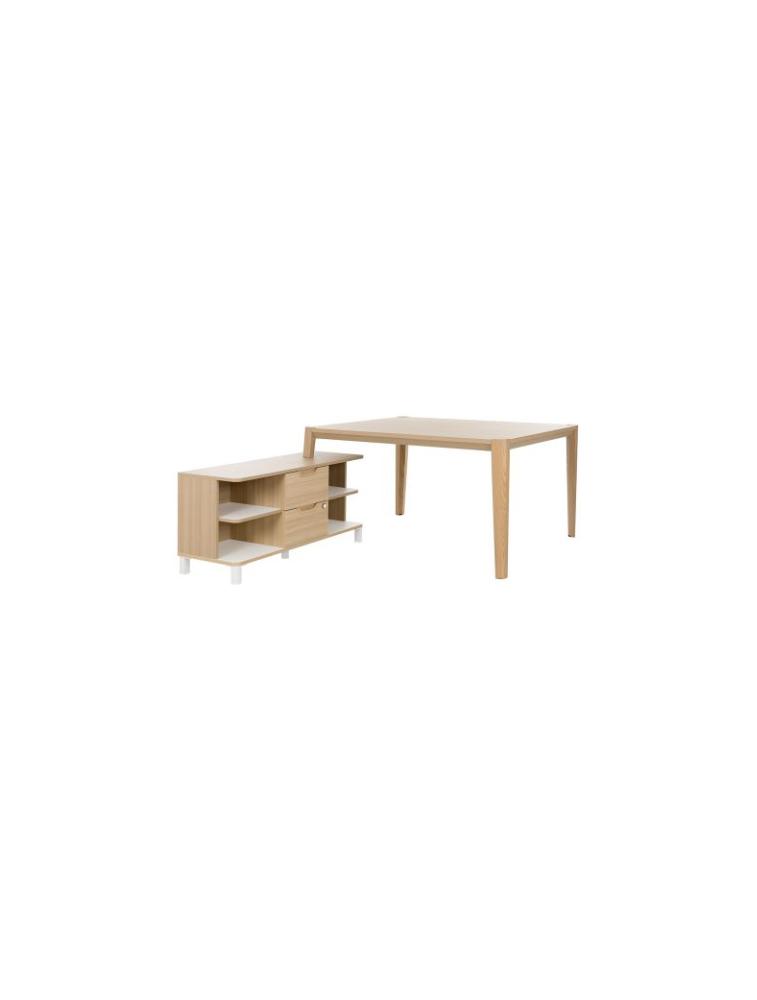 BUREAU ABSOLU (GAUTIER) – RÉF. TABLE DE TRAVAIL L.160 AVEC RETOUR 1S17550 – GAUTIER