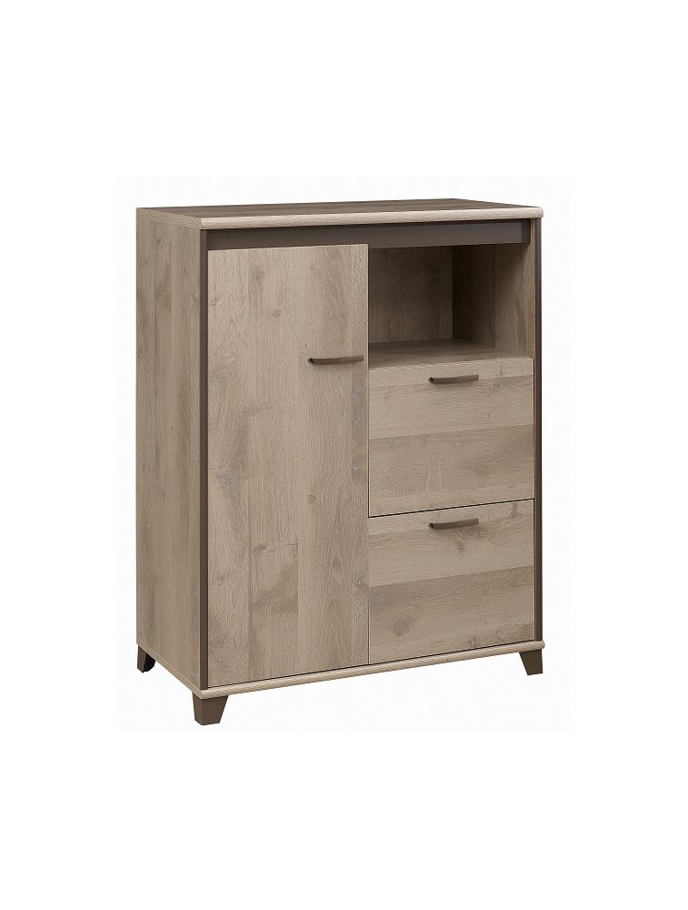 Rangement 1 porte 2 tiroirs 1 niche Gautier de la collection Mambo