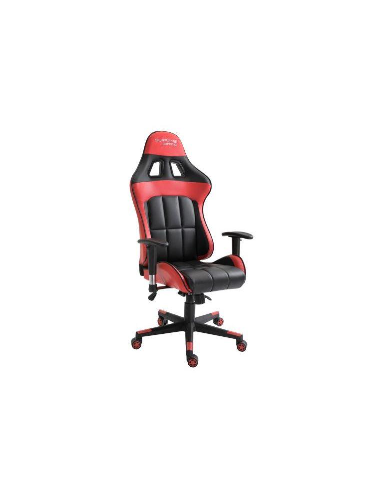 Photo de la chaise coloris rouge et noire