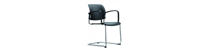 Chaise et fauteuil visiteurs pour salle d'attente, bureau, espace public