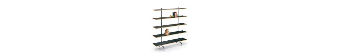 Étagère et bibliothèque haut de gamme en bois ou en verre