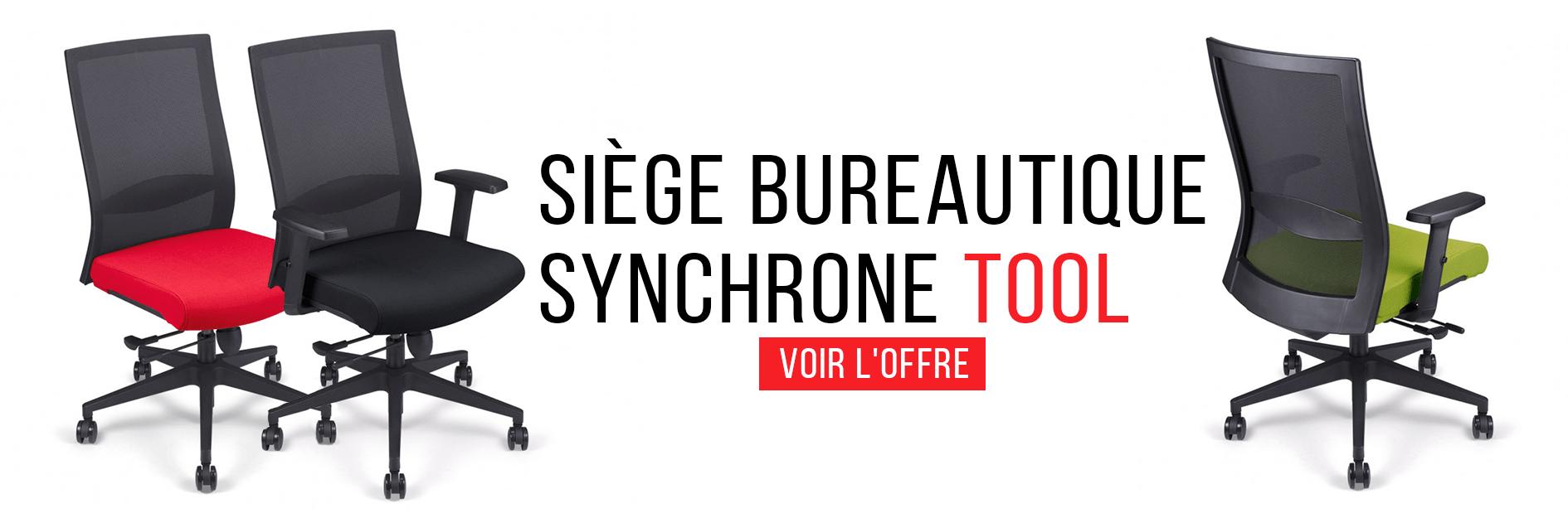 Siège Bureautique Synchrone - Tool